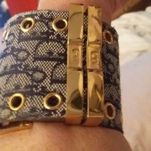 Dior leather cuff